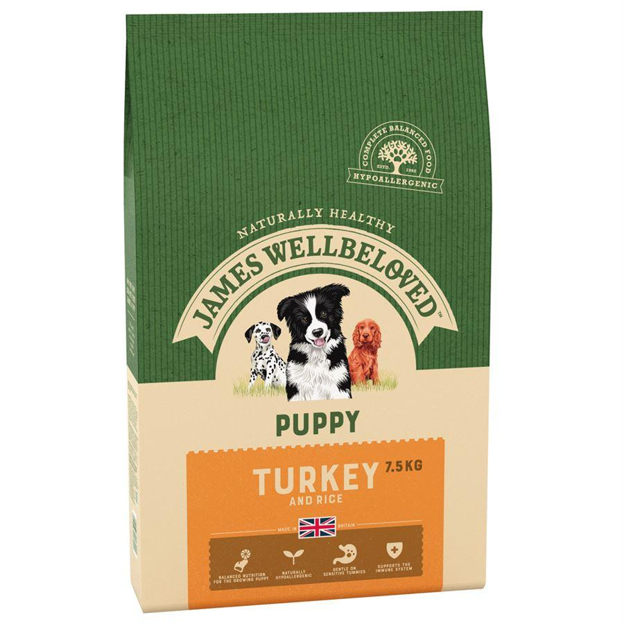James Wellbeloved Turkey & Rice Puppy Food 2kg