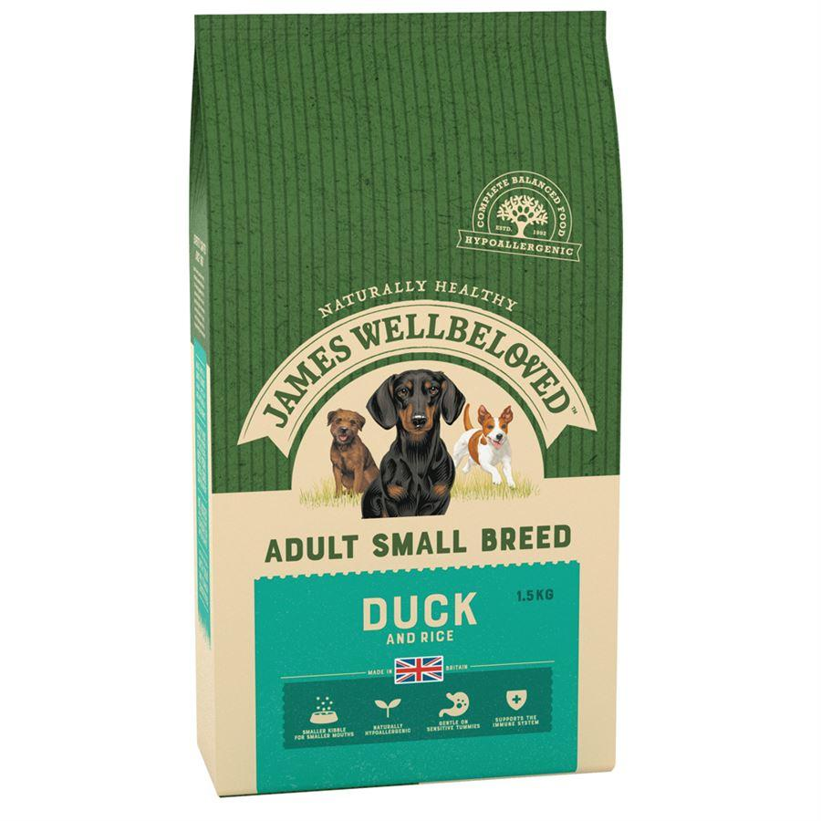 James Wellbeloved Adult Small Breed Duck - 1.5kg
