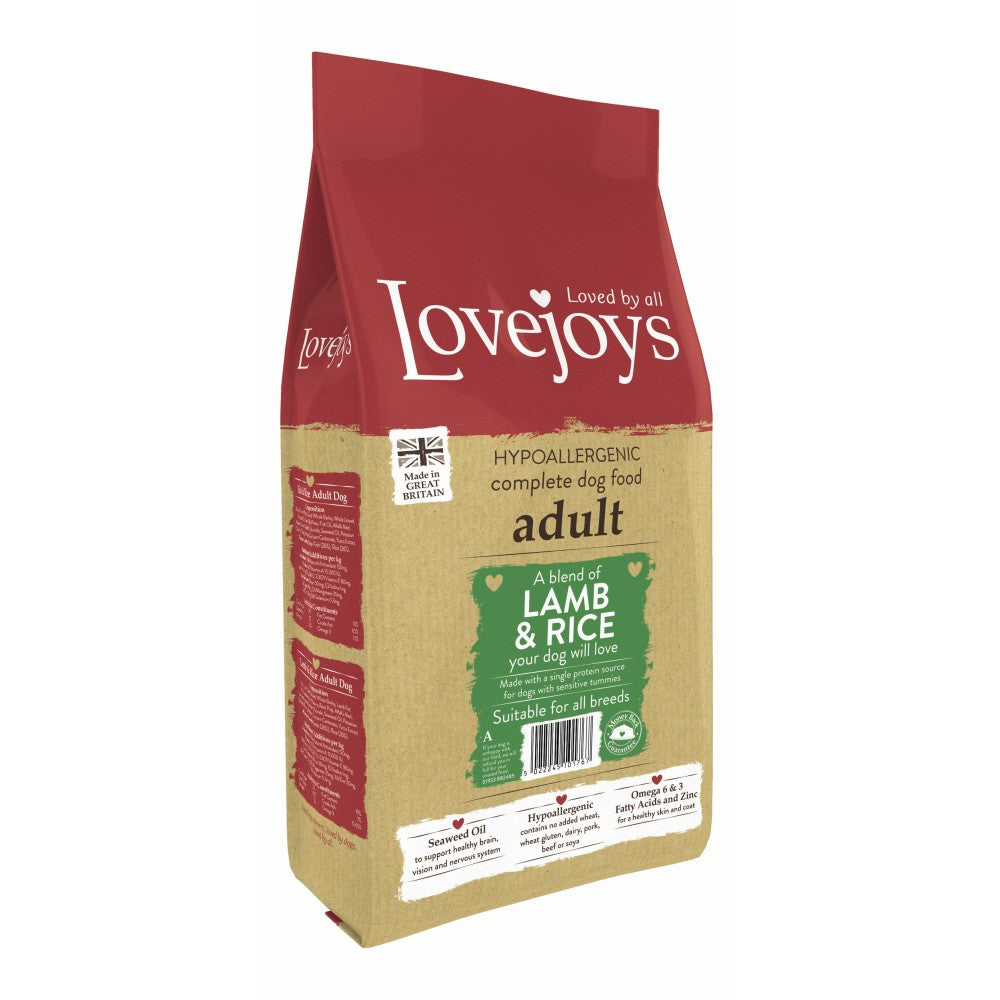 Lovejoys Adult Lamb & Rice Dry Dog Food - PurrfectlyYappy