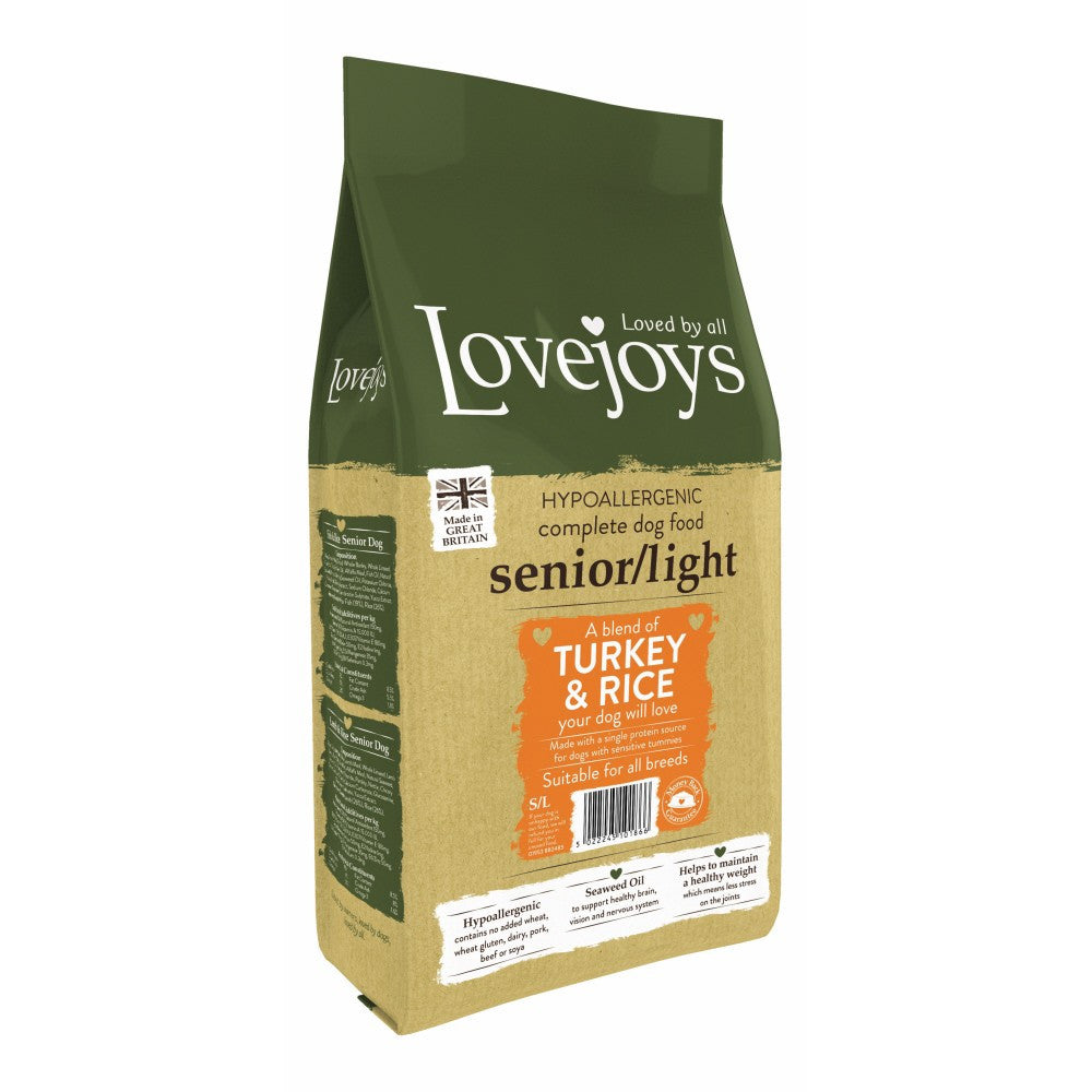 Lovejoys Senior/Light Turkey & Rice Dry Dog Food - PurrfectlyYappy