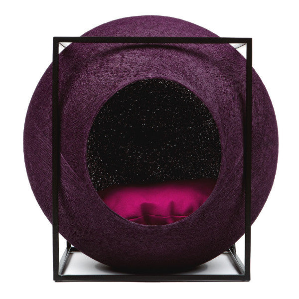 Meyou The Cube Cat Bed in Plum - PurrfectlyYappy