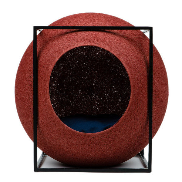 The Cube Cat Bed by Meyou - Clay with Metal Frame