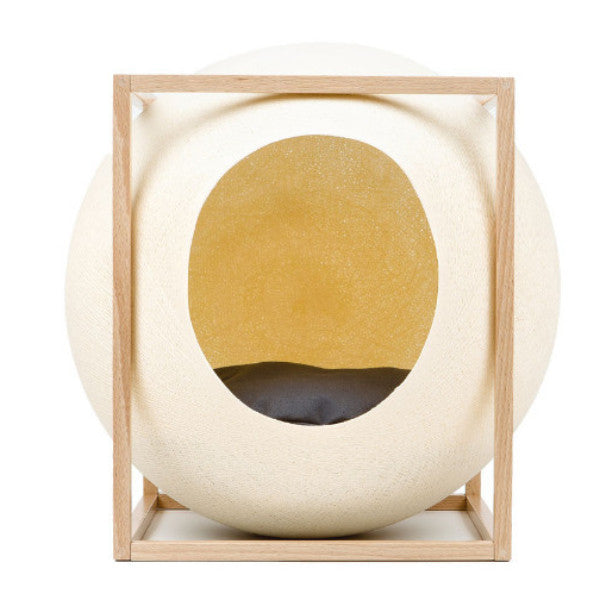 Meyou The Cube Cat Bed in Champagne