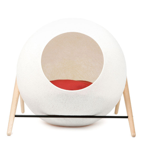 Meyou The Ball Cat Bed in Ivory - PurrfectlyYappy