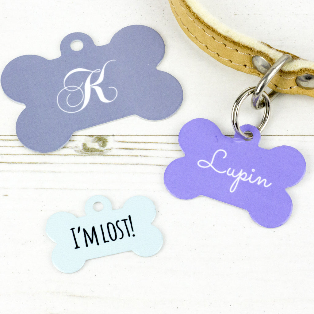 We Love To Create Personalised Pet Tag Bone Shape - PurrfectlyYappy