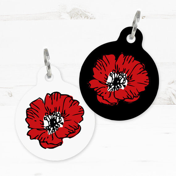 We Love To Create Personalised Poppy Bauble Pet Tag - PurrfectlyYappy