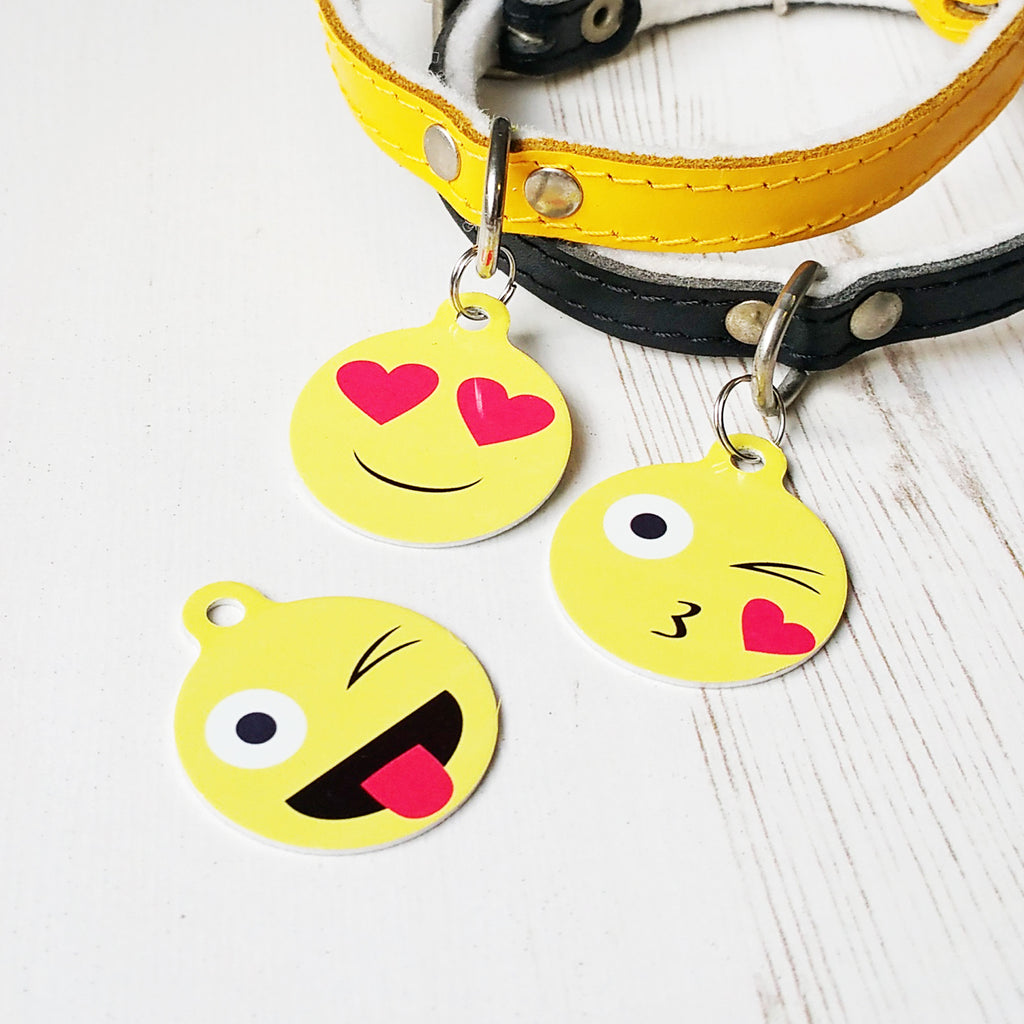 We Love To Create Personalised Pet Tag Bauble Shape in Emoji - PurrfectlyYappy