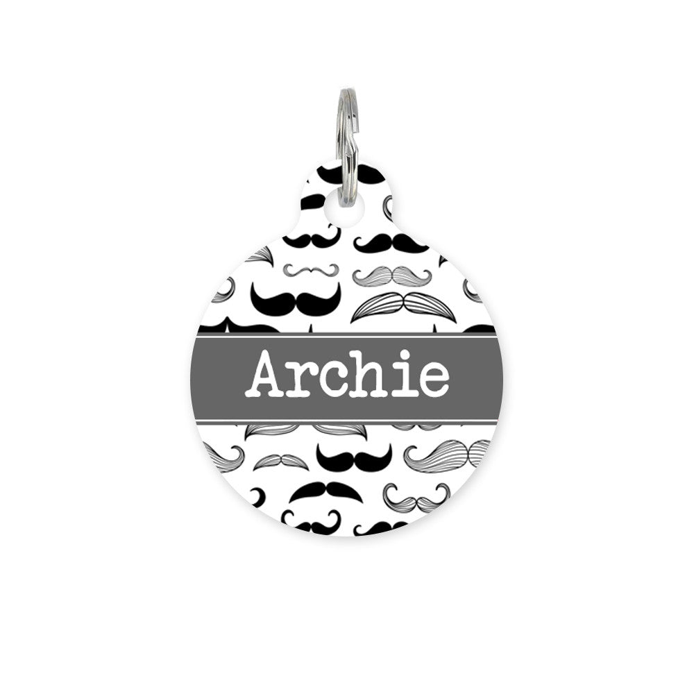 We Love To Create Personalised Bauble in Moustache Print - PurrfectlyYappy