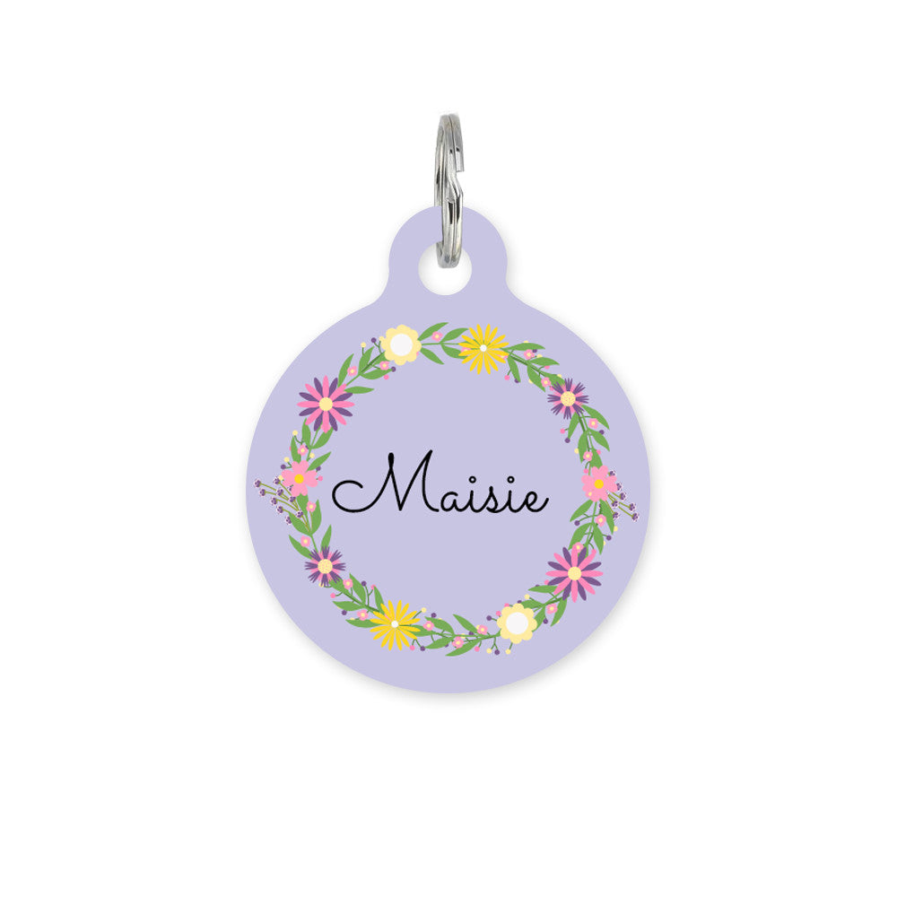 We Love To Create Personalised Bauble in Floral Circle - PurrfectlyYappy