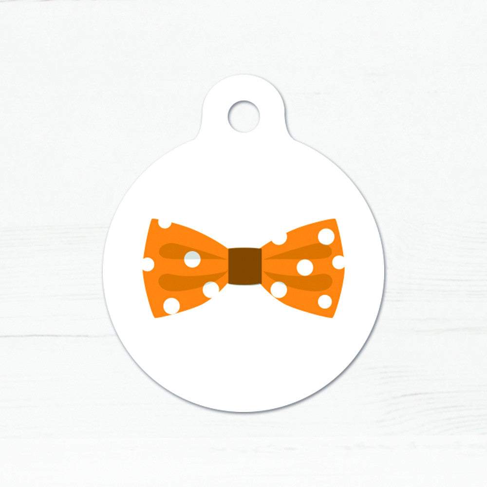 We Love To Create Personalised Bow Tie Bauble Dog Tag - PurrfectlyYappy