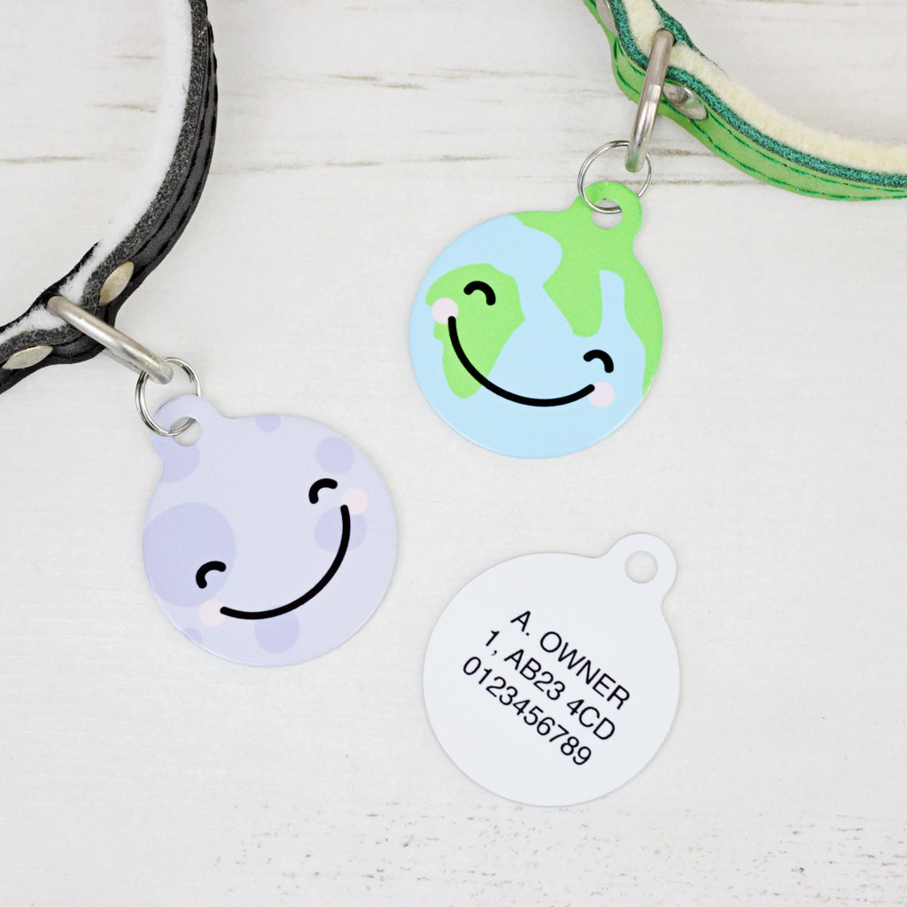 We Love To Create Personalised Bauble Dog Tag in Moon & Earth - PurrfectlyYappy