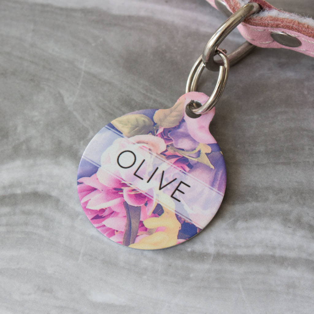 We Love To Create Personalised Bauble in Floral Print - PurrfectlyYappy