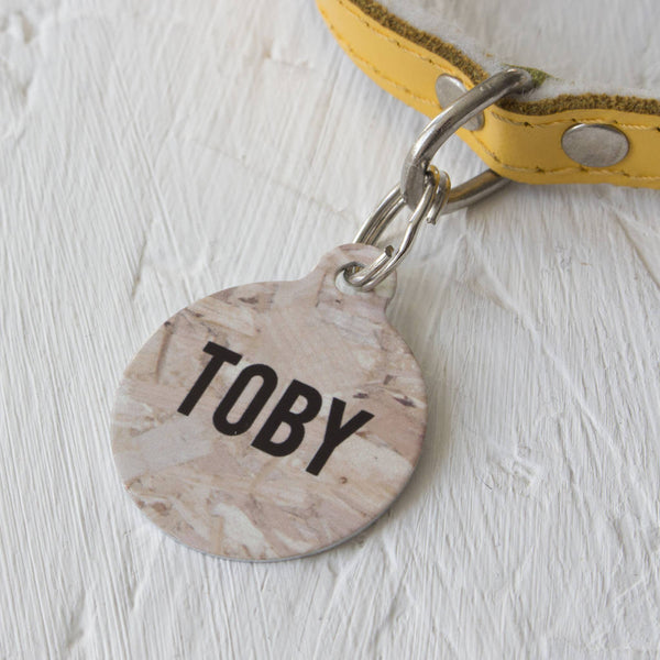 We Love To Create Personalised Bauble Dog Tag in OSB Wood Print - PurrfectlyYappy
