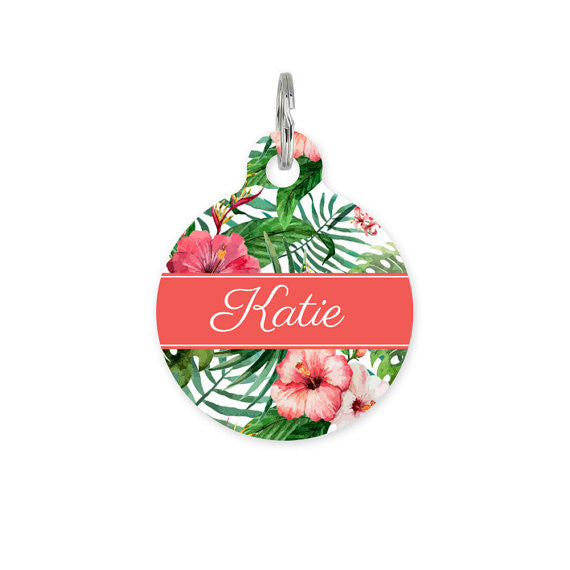 We Love To Create Personalised Bauble in Tropical Floral
