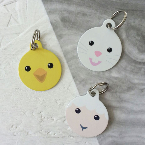 We Love To Create Personalised Bauble Dog Tags in Easter Friends