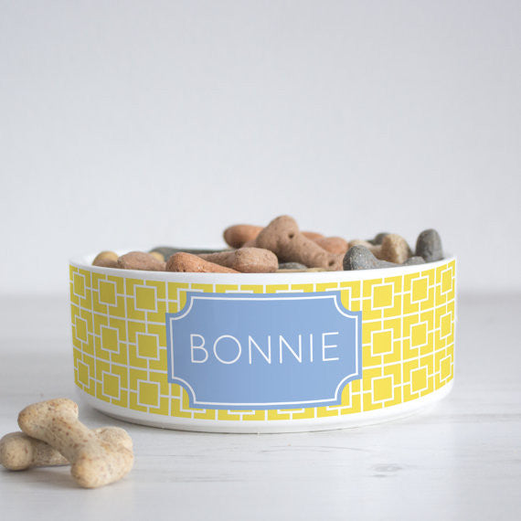 We Love To Create Personalised Bowl in Square - PurrfectlyYappy