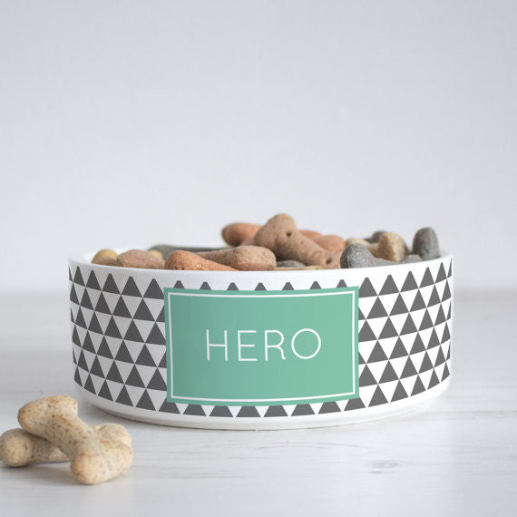 We Love To Create Personalised Bowl in Triangle - PurrfectlyYappy