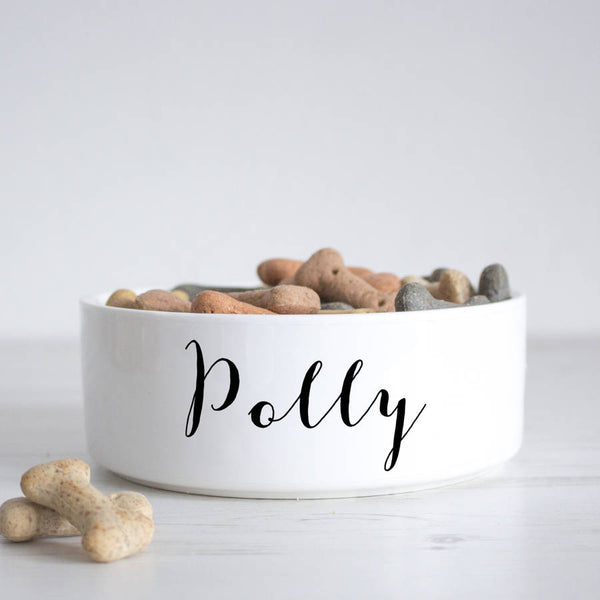 We Love To Create Personalised Bowl in White