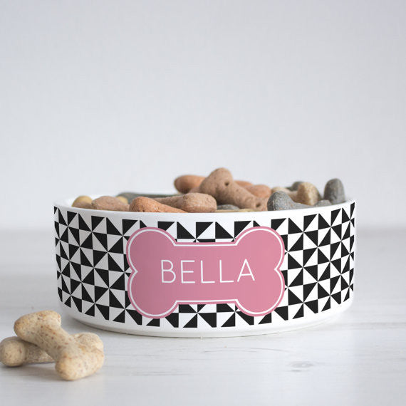 We Love To Create Personalised Bowl in Pinwheel - PurrfectlyYappy