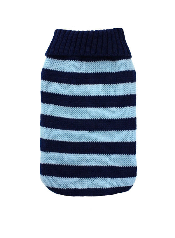 Urban Pup Blue Striped Small Dog Jumper - PurrfectlyYappy