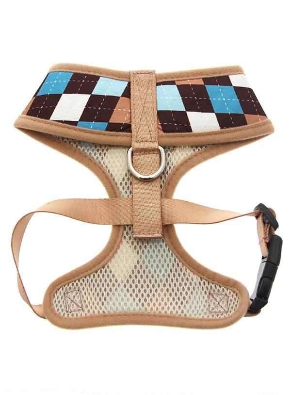 Urban Pup Brown & Blue Argyle Dog Harness