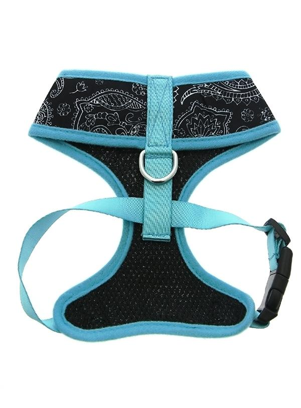 Urban Pup Black & Blue Paisley Dog Harness