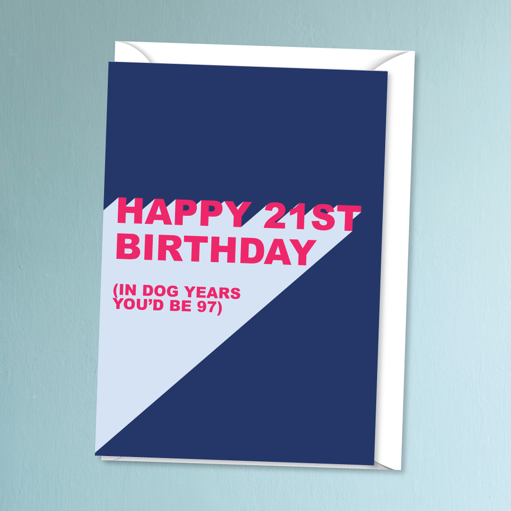 Make Like A Bandit Happy 21st Birthday Card