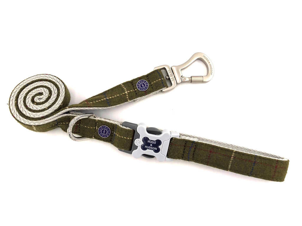 Hugo & Hudson Dark Green Check Lead