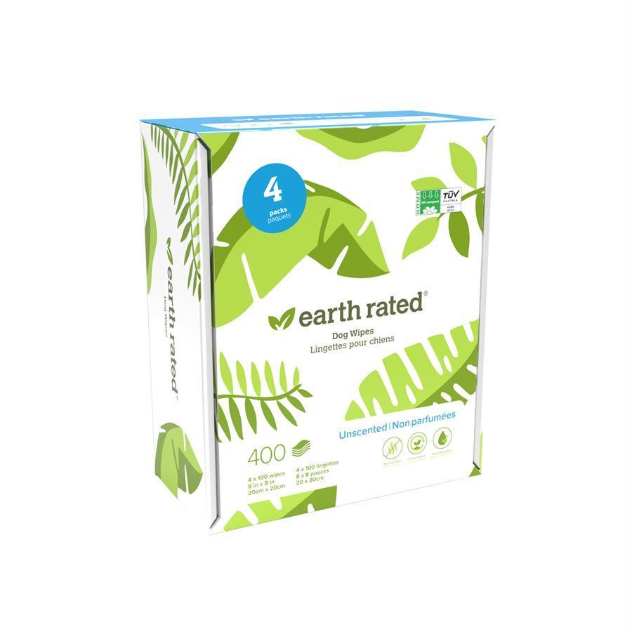 Earth Rated Compostable Dog Wipes 400 Unscented