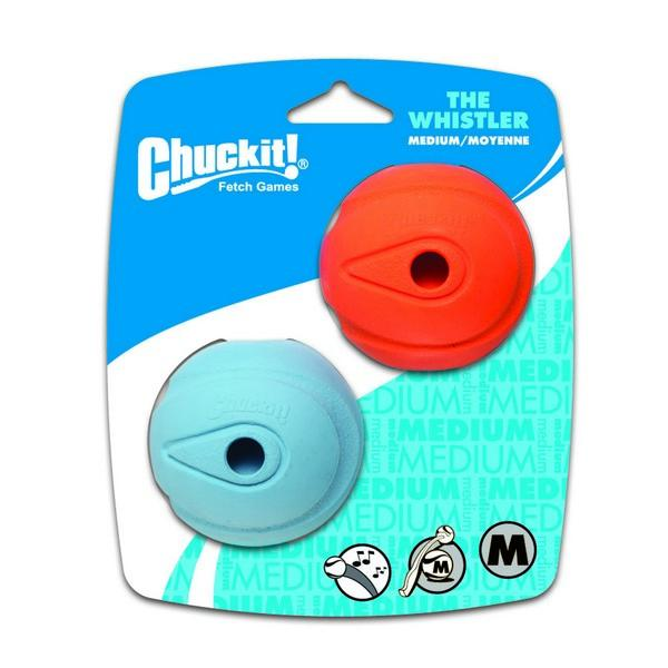 Chuckit! The Whistler Ball 2 Pack Medium 6.5cm
