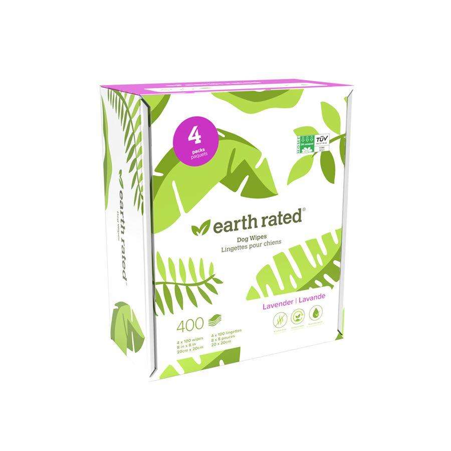 Earth Rated Compostable Dog Wipes 400 Lavender