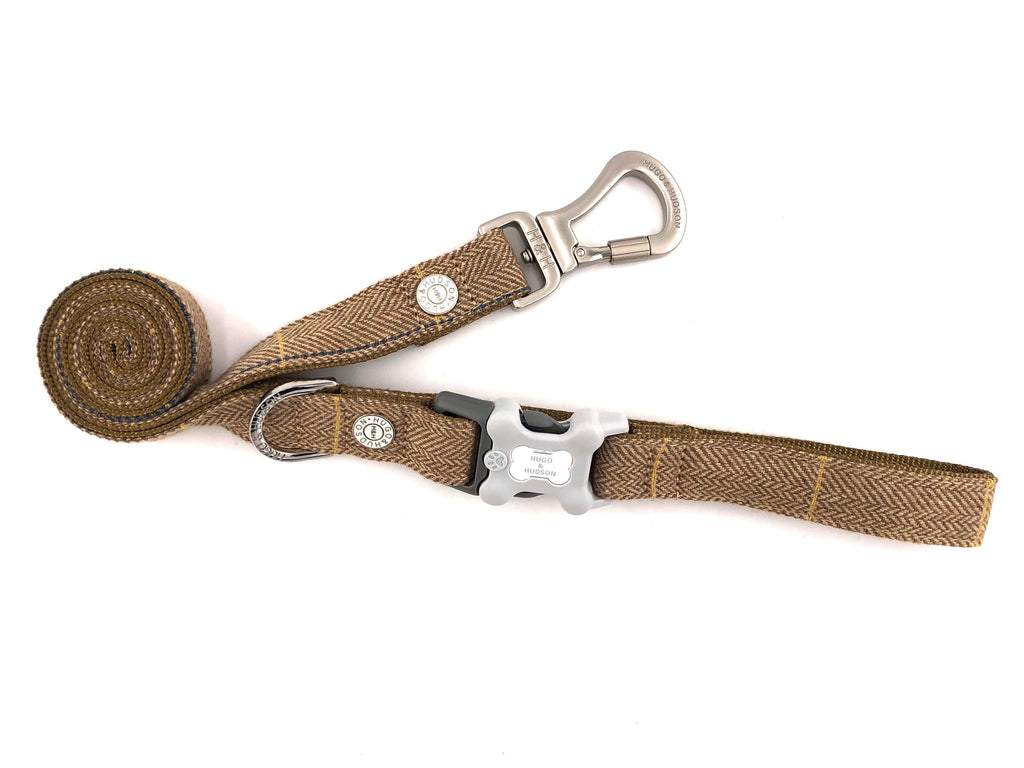 Hugo & Hudson Caramel Checked Herringbone Lead