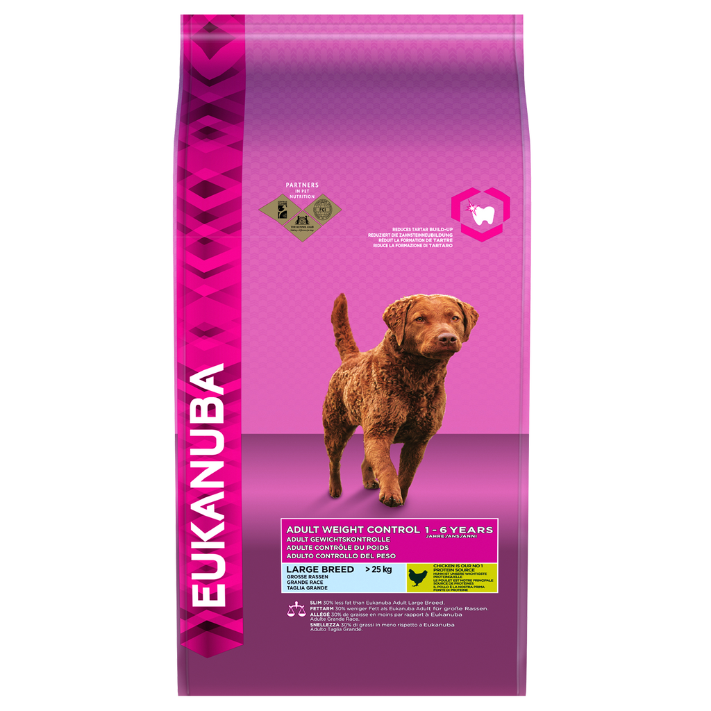 Eukanuba Adult Weight Control Chicken Large Breed - 12kg - PurrfectlyYappy
