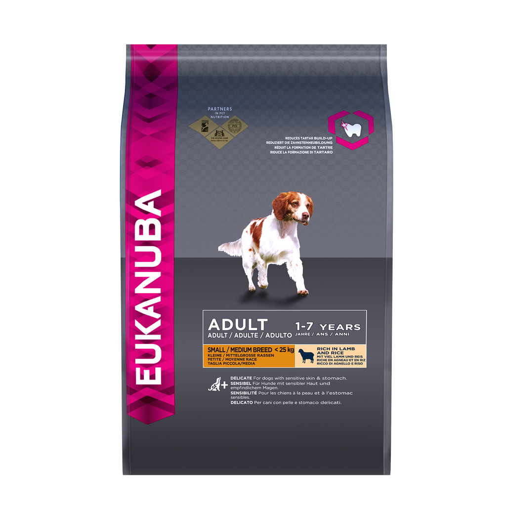 Eukanuba Adult Small/Medium Breed Lamb & Rice - 12kg - PurrfectlyYappy