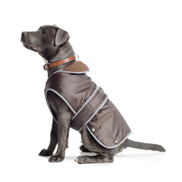 Ancol Fleece Lined Stormguard Dog Coat in Brown