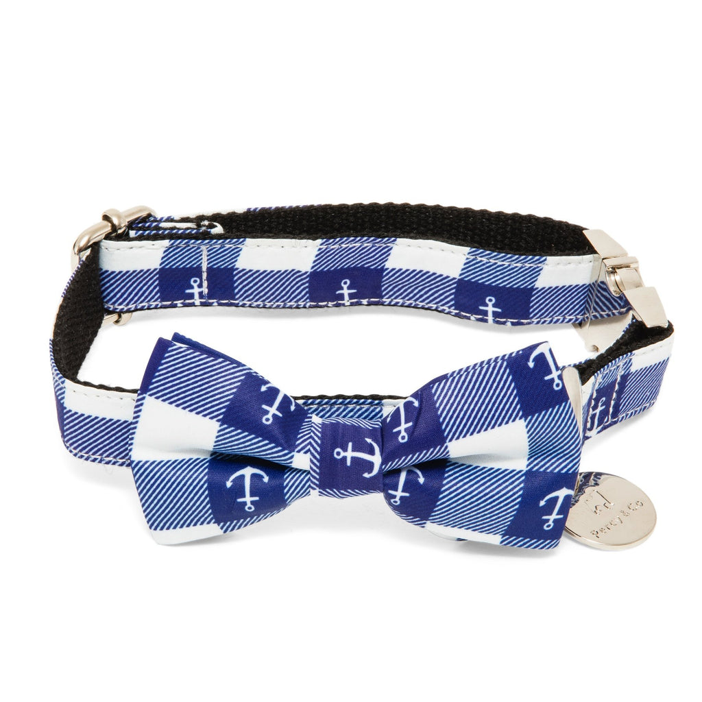 Percy & Co. Bow Tie Collar & Lead Set in The New Anglesea - PurrfectlyYappy