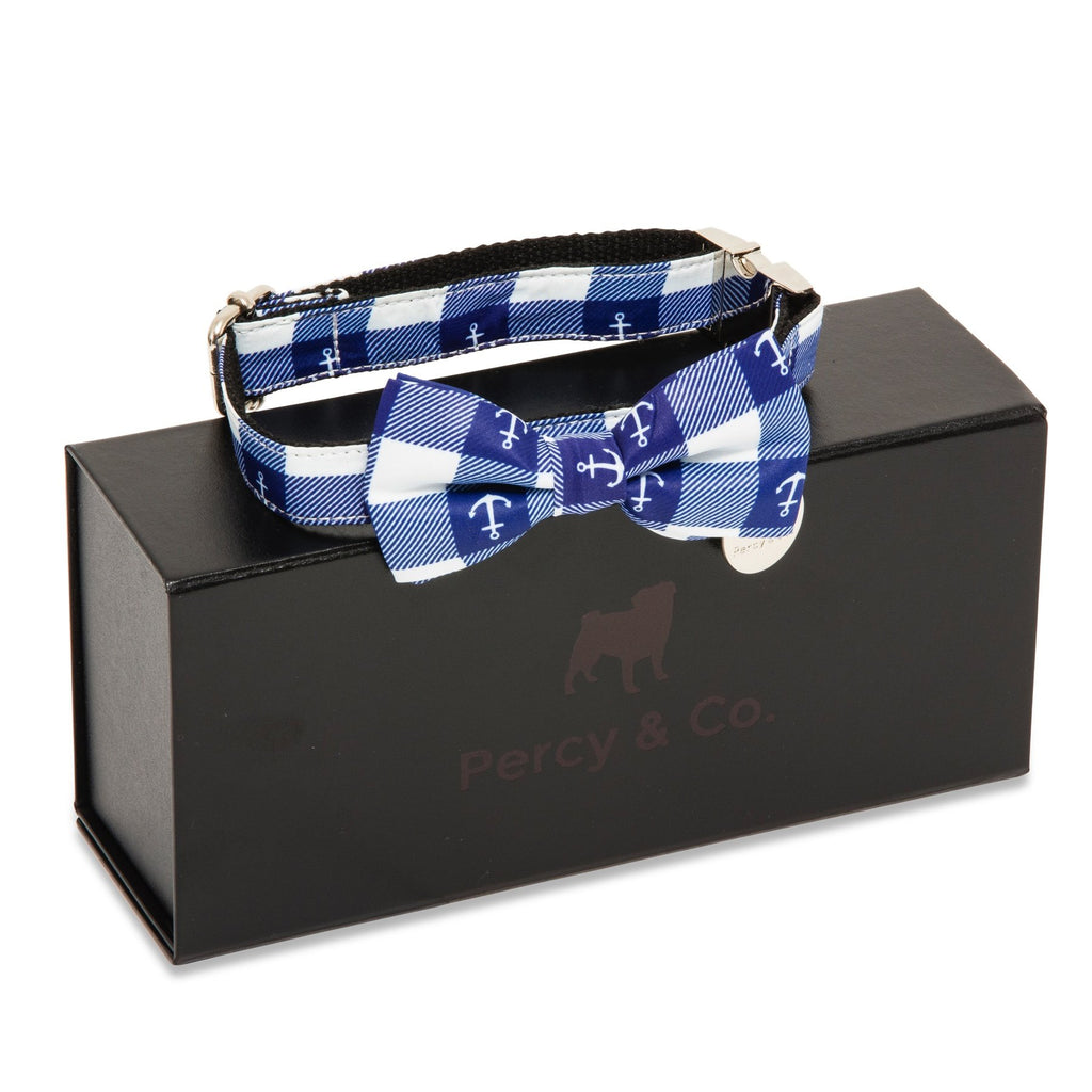Percy & Co. Dog Collar Bow Tie in The New Anglesea - PurrfectlyYappy