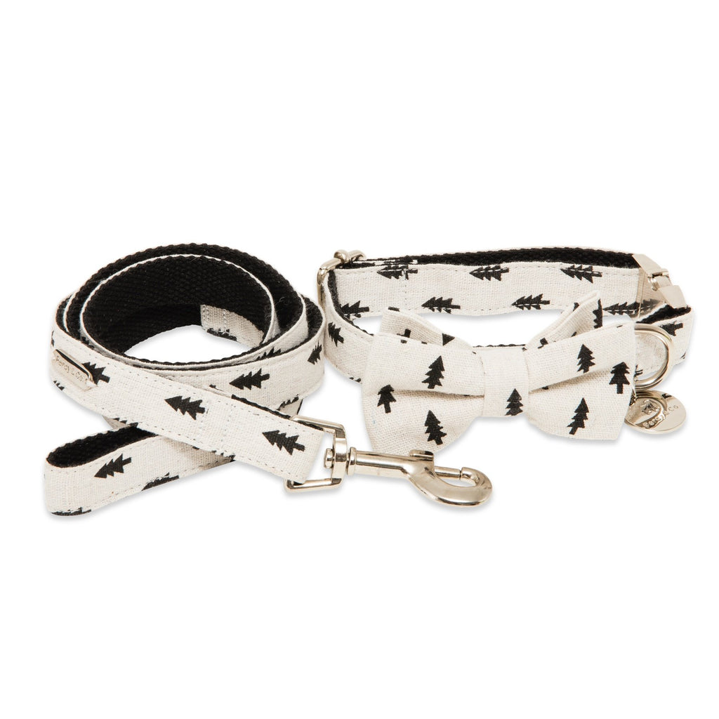 Percy & Co. Bow Tie Collar & Lead Set in The Balmoral - PurrfectlyYappy