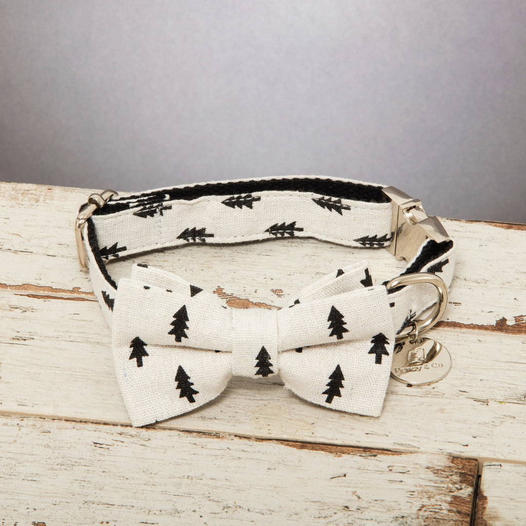 Percy & Co. Dog Collar Bow Tie in The Balmoral - PurrfectlyYappy