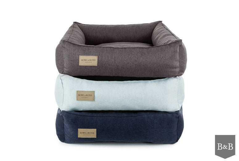 Bowl & Bone Republic Urban Dog Bed in Navy - PurrfectlyYappy