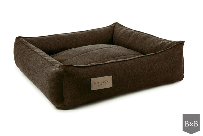 Bowl & Bone Republic Urban Dog Bed in Brown - PurrfectlyYappy