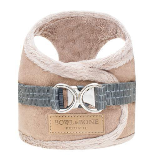 Bowl & Bone Republic Yeti Harness & Lead in Brown - PurrfectlyYappy
