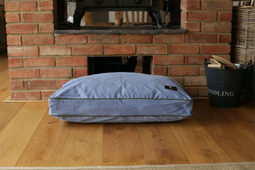 Hunt & Wilson Luxury Dog Bed Corduroy in Bluebell - PurrfectlyYappy