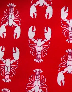 Slumbering Hound Rock Lobster Bandana in Lobster Red - PurrfectlyYappy