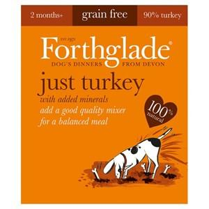 Forthglade Just Turkey Grain Free Dog Food 18 x 395g