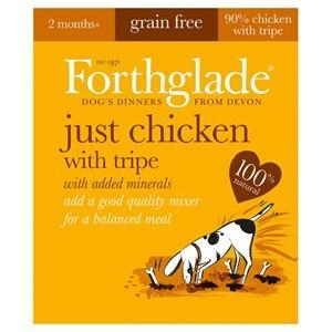 Forthglade Just Chicken & Tripe Grain Free Dog Food 18 x 395g