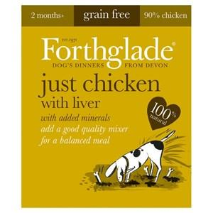Forthglade Just Chicken & Liver Grain Free Dog Food 18 x 395g
