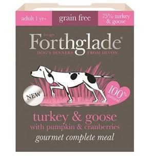 Forthglade Gourmet Grain Free Turkey & Goose with Pumpkin & Cranberry Adult Dog Food 7x395g