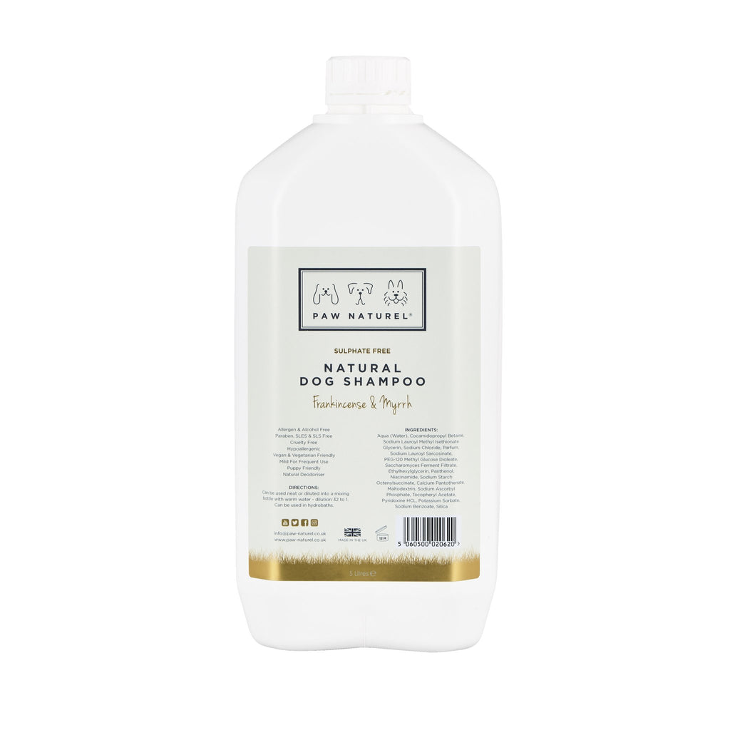 Paw Naturel Frankincense & Myrrh Natural Dog Shampoo 5litre