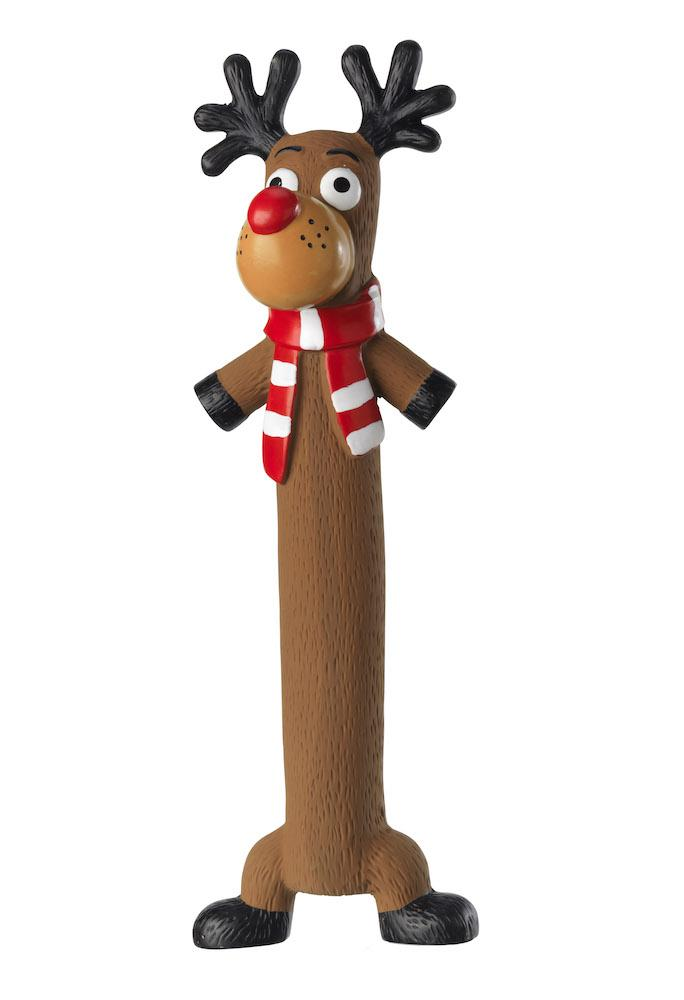 House of Paws Latex Reindeer Christmas Dog Toy